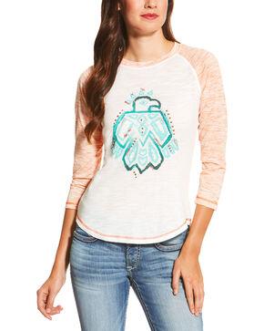 Ariat Women's White Free Bird Top, White, hi-res