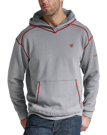 Ariat Flame Resistant Polartec Grey Hoodie - Big and Tall, , hi-res
