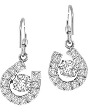 Kelly Herd Sterling Silver Dancing Diamond Earrings , Silver, hi-res