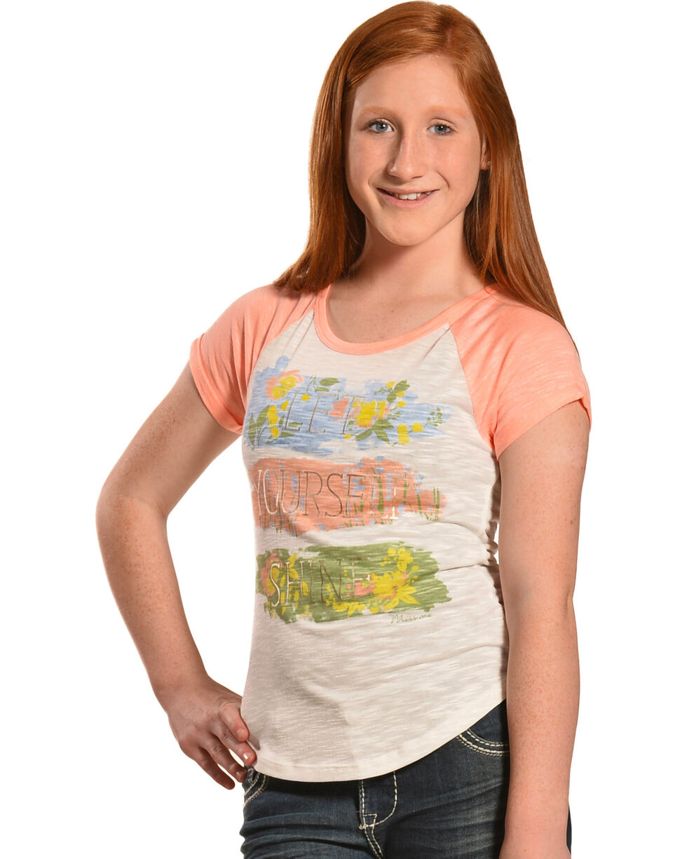 Miss Me Girls' Let Yourself Shine Tee, , hi-res