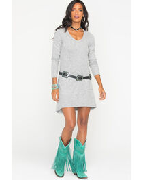 Z Supply Women's Grey Marled Sweater Dress , , hi-res