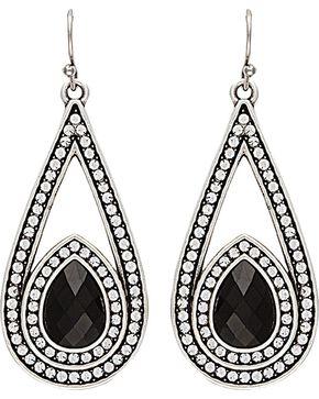Wrangler Rock 47 Campfire Coals Night Stone & Stars Drop Earrings, Silver, hi-res