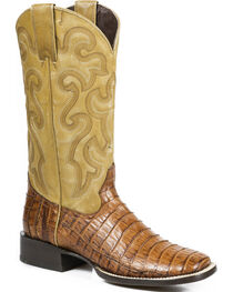 Stetson Women's Brandy Mad Dog Caiman Western Boots - Square Toe, , hi-res