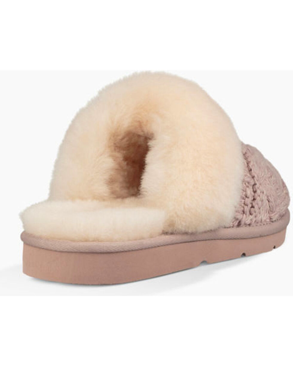 UGG®  Women's Cozy Cable Knit Slippers, , hi-res