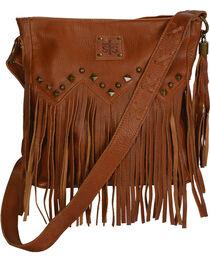STS Ranchwear Saddle Brown Boho Crossbody Bag, , hi-res