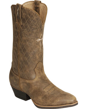 "Twisted X Men's Silver Buckle 11"" Western Boots, Distressed, hi-res"