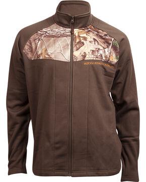 Rocky Men's Full-Zip Realtree Camo Fleece Jacket, Brown, hi-res