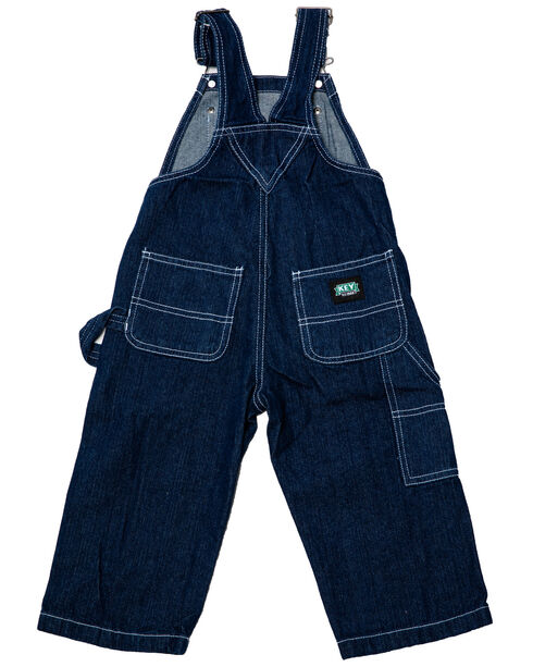 Key Industries Toddler Boys Denim Overalls - 2T-4T, Denim, hi-res