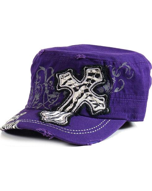 Savana Women's Decaled Cross Military Hat, , hi-res