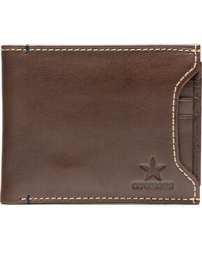 Jack Mason Men's Dallas Cowboys Stadium Sliding 2 in 1 Wallet, Brown, hi-res