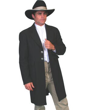 WahMaker Old West by Scully Dragon Lining Frock Coat, Black, hi-res