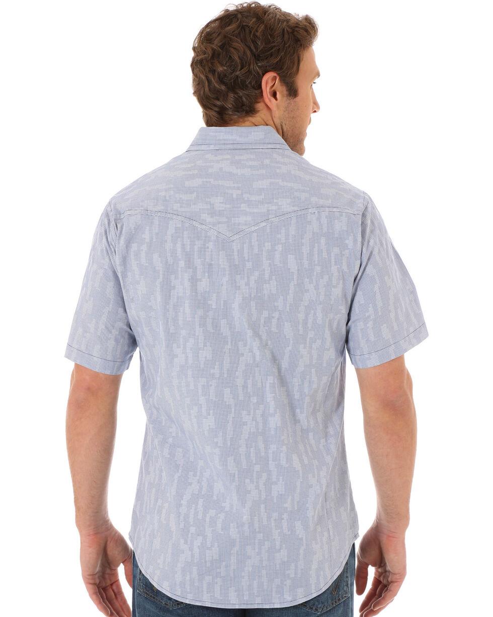 Wrangler Men's Multi Top Stitching Plaid Short Sleeve Shirt, Multi, hi-res