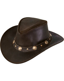 Outback Trading Men's Rawhide Leather Hat, , hi-res