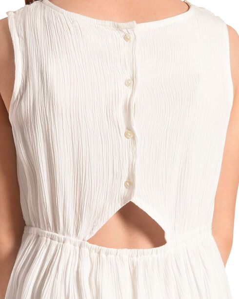 Silver Girls' White Sleeveless Lace Dress, White, hi-res