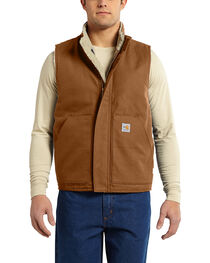 Carhartt Men's Flame Resistant Mock Neck Vest, , hi-res