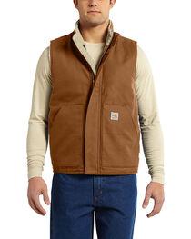 Carhartt Men's Flame Resistant Mock Neck Vest - Big & Tall, , hi-res