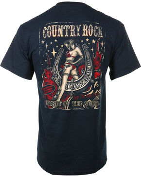 Cowboy Up Men's Country Rock Tee, Black, hi-res