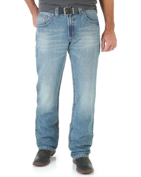 Wrangler Rock 47 Men's Grunge Boot Cut Jeans - Slim Fit, Denim, hi-res