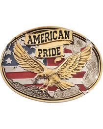 Montana Silversmiths Men's American Pride Attitude Belt Buckle, , hi-res
