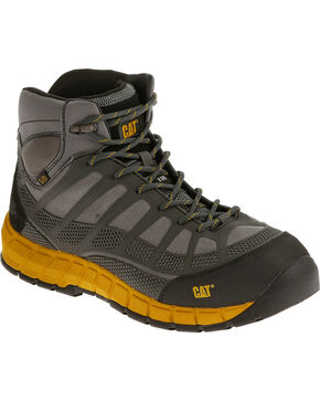 CAT Men's Streamline Mid ESD Composite Toe Work Boots, Grey, hi-res