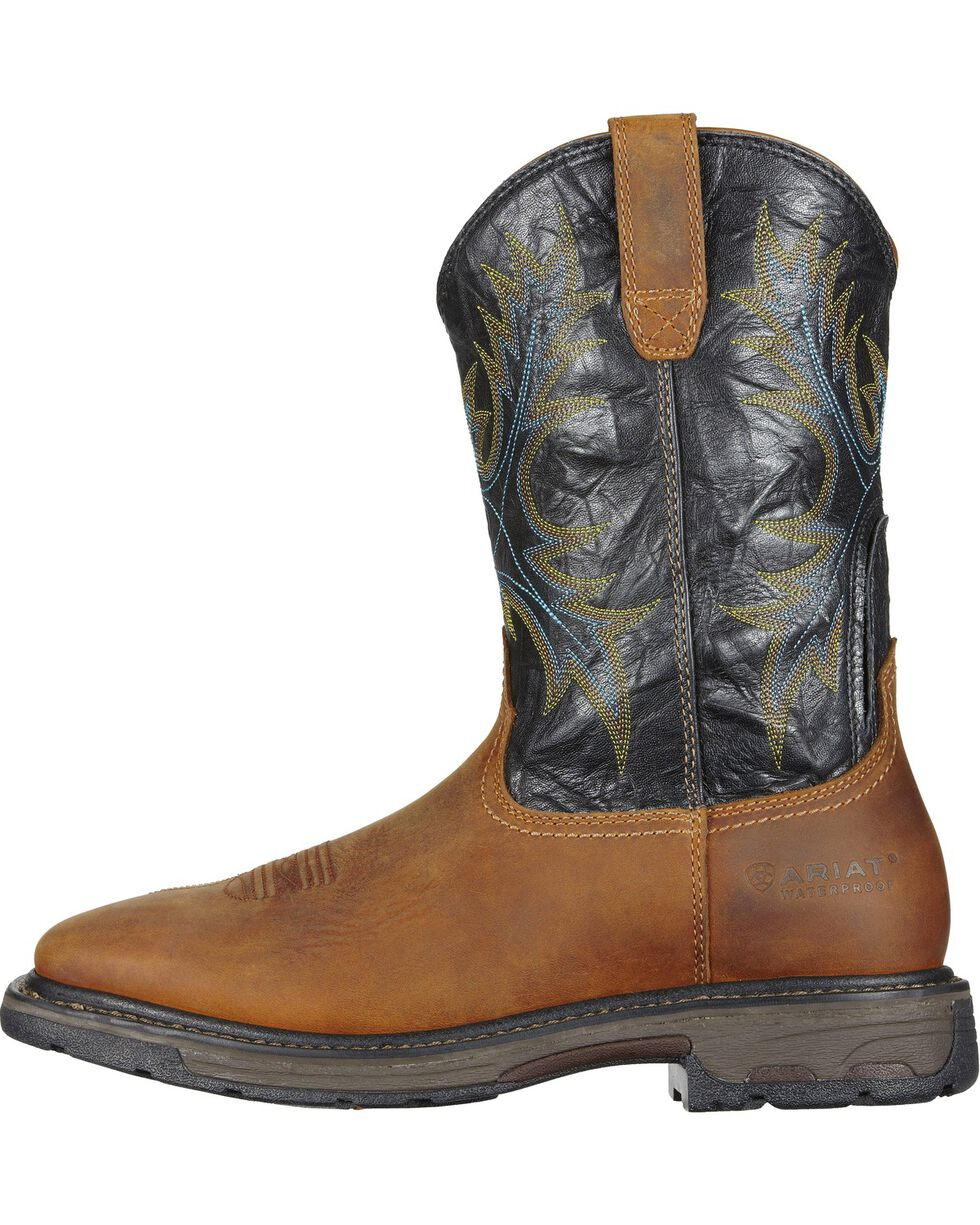 Ariat Men's Workhog H2O Waterproof Western Work Boots, Aged Bark, hi-res