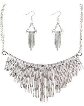 Shyanne® Women's Waterfall Jewelry Set, Silver, hi-res