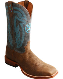 Twisted X Men's Hooey Denim Cowboy Boots - Square Toe, Brown, hi-res