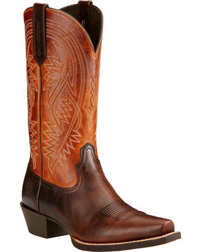 Ariat Men's Revolution Cowboy Boots, Brown, hi-res