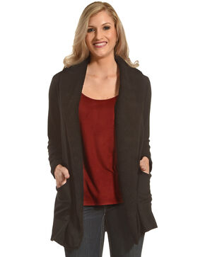 New Direction Sport Women's Sherpa Lined Jacket , Black, hi-res