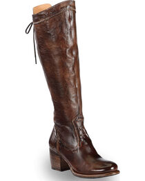 Bed Stu Women's Brown Fortune Back Lace Boots - Round Toe , , hi-res