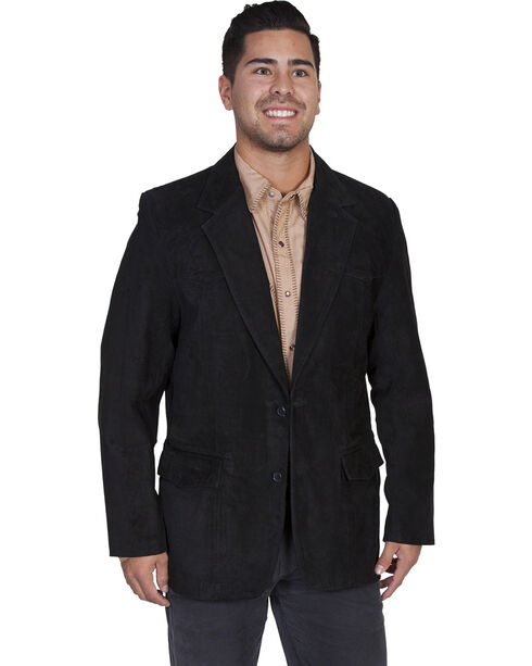 Scully Boar Suede Black Blazer - Big, Black, hi-res