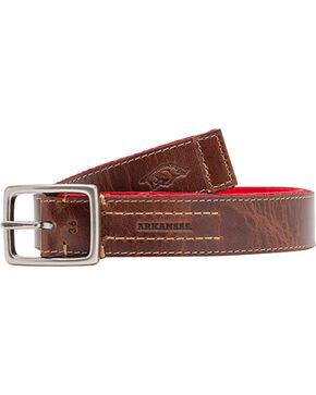 Jack Mason Men's University of Arkansas Alumni Reversible Belt  , Red, hi-res