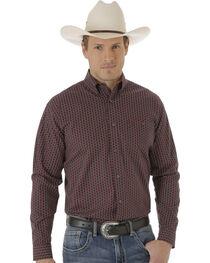 Wrangler Men's Red and Black Foulard Print 20X Western Shirt , , hi-res