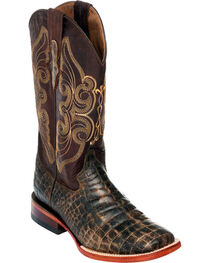 Ferrini Women's Chocolate Belly Print Cowgirl Boots - Square Toe, , hi-res