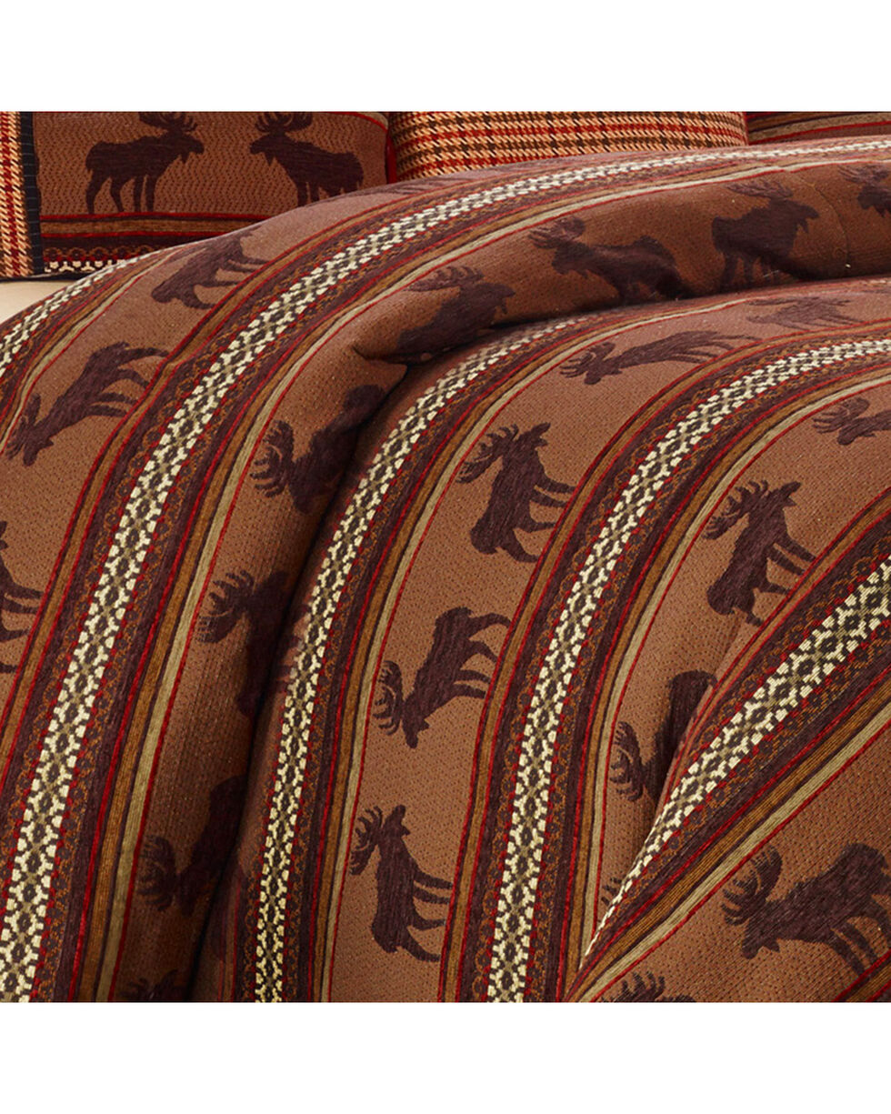 HiEnd Accents Super Queen Bayfield Moose Duvet , Multi, hi-res