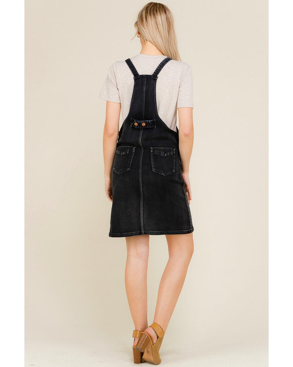 Polagram Women's Black Overall Denim Dress, Indigo, hi-res