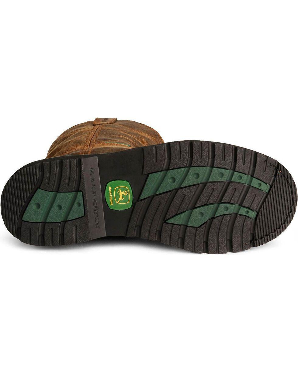 """John Deere® Men's 10"""" Waterproof Boots, Oak, hi-res"""