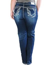 Grace in LA Women's Straight Leg Plus Size Jeans , , hi-res