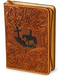 3D Cross Mountain Leather Bible Cover, , hi-res