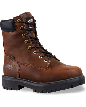 "Timberland Pro Men's 8"" Insulated Work Boots, Brown, hi-res"