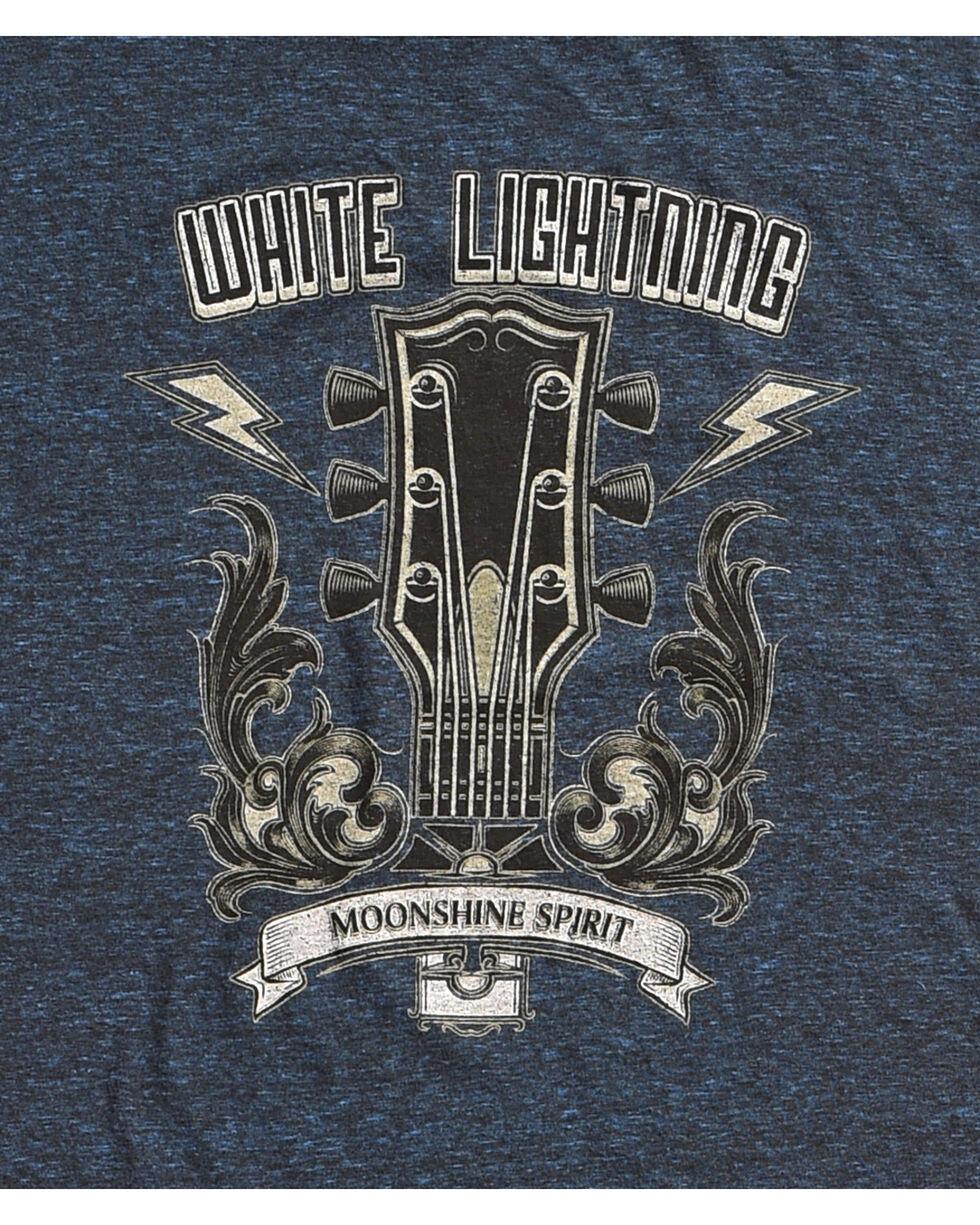 Moonshine Spirit Men's White Lightning Guitar Head Tee, Dark Blue, hi-res