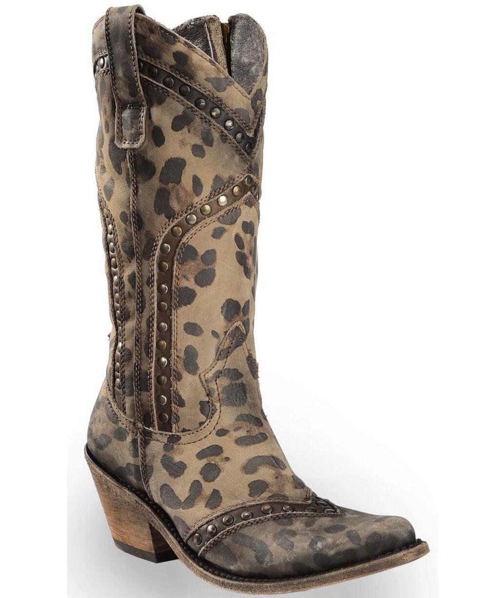 Liberty Black Women's Chita T-Moro Western Boots - Pointed Toe , Cheetah, hi-res