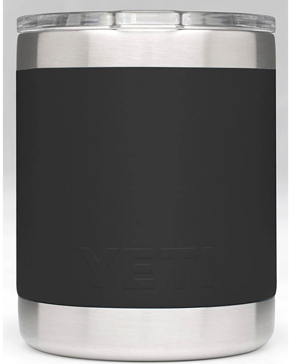 Yeti Black 10 oz. Lowball Rambler , Black, hi-res