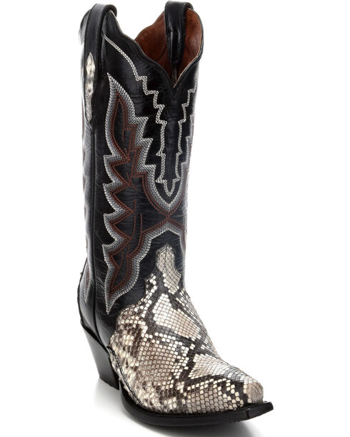 Dan Post Women's Natural Python Triad Cowgirl Boots - Snip Toe, , hi-res
