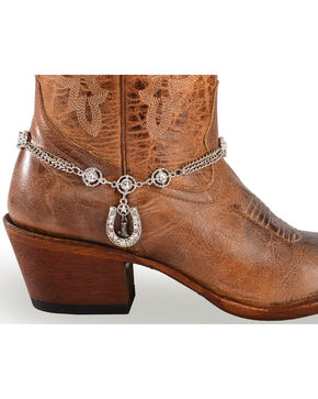 Shyanne Women's Triple Chain Horseshoe Boot Bracelet, Silver, hi-res