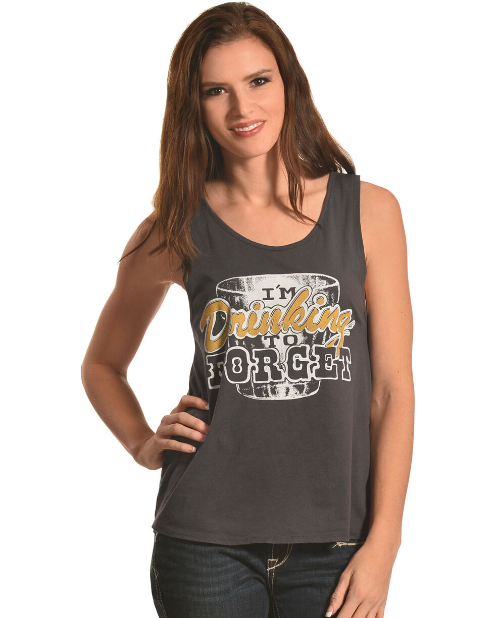Bandit Women's Drinking to Forget Tank Top , Black, hi-res