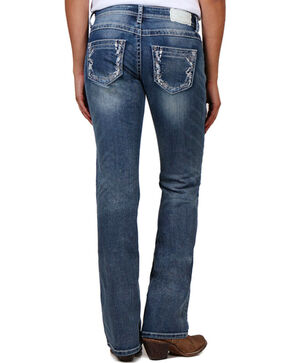 Shyanne® Women's Light Stitch Boot Cut Jeans, Blue, hi-res
