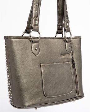 Shyanne® Women's Cross Concealed Carry Tote  , Dark Grey, hi-res
