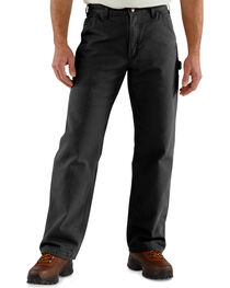Carhartt Washed Duck Flannel Lined Dungaree Work Pants, , hi-res