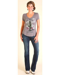 Wrangler Women's Be Wild and Wonder Graphic Tee, Hthr Grey, hi-res
